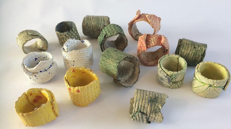 Cursus of workshop keramiek: servetringen maken