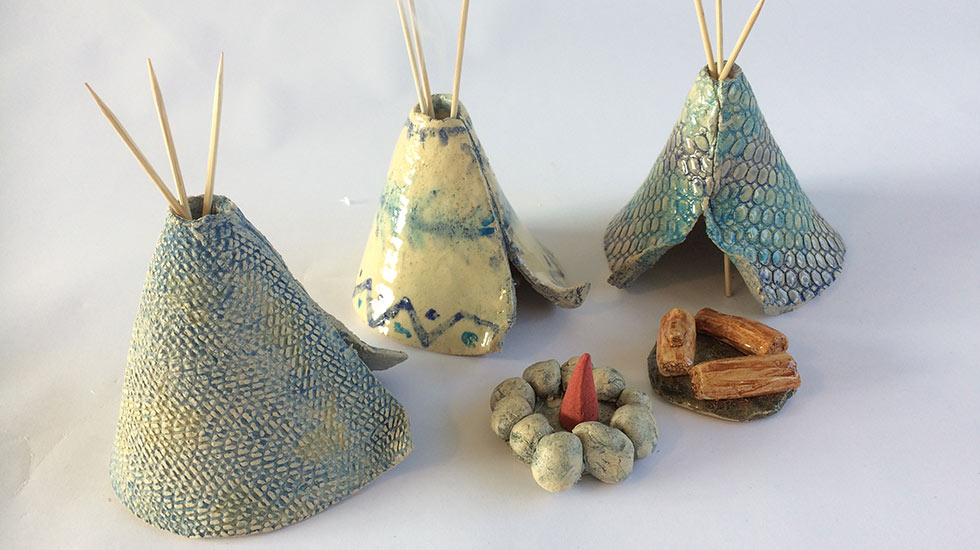 Workshop boetseren: Wigwam maken
